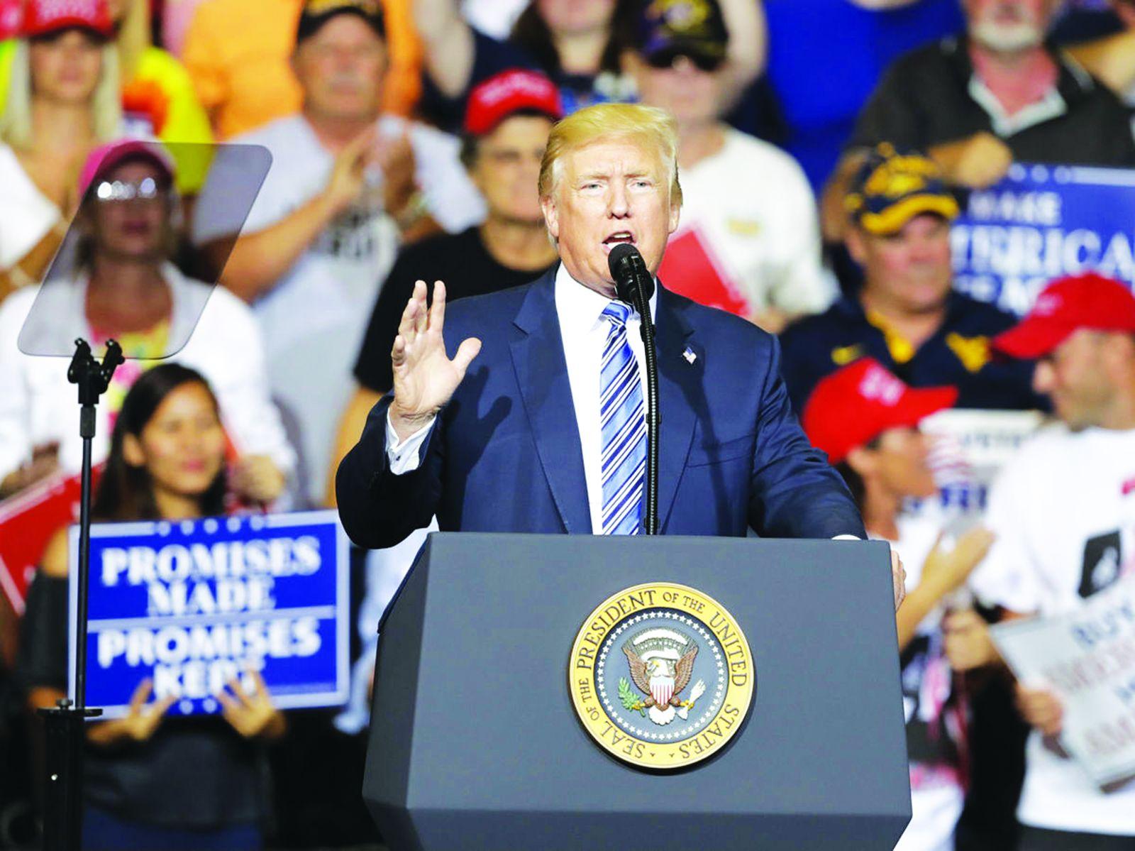 """Ông Trump cho rằng việc Nga can thiệp bầu cử Mỹ là """"hư cấu"""". Ảnh: AP"""
