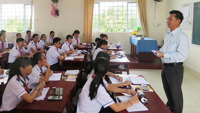 Giờ hướng nghiệp cho học sinh lớp 9 Trường THCS Bình Thủy.