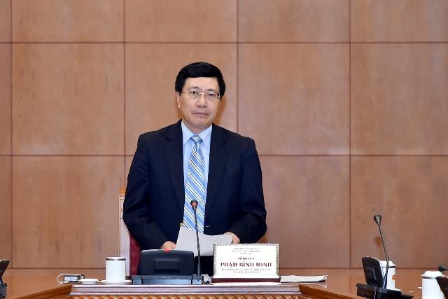 Phó Thủ tướng Phạm Bình Minh phát biểu tại Hội nghị. Ảnh: Chinhphu.vn