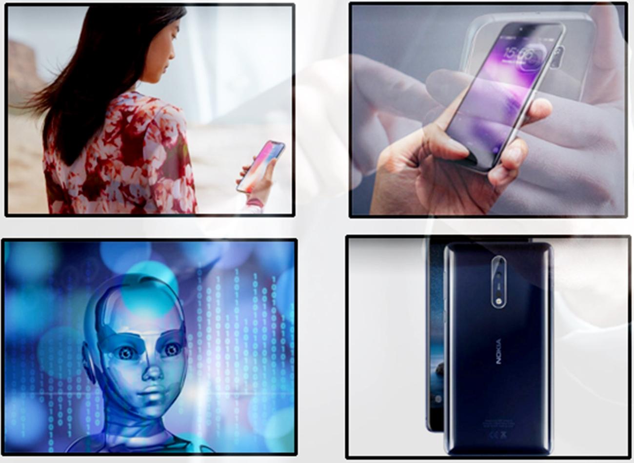 Nhận diện khuôn mặt, nhận diện vân tay trong màn hình, AI, camera kép là những tính năng sẽ phổ biến mạnh trong năm 2018. Đồ họa: Q.H