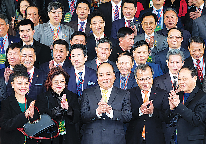 Thủ tướng Nguyễn Xuân Phúc tiếp kiều bào.