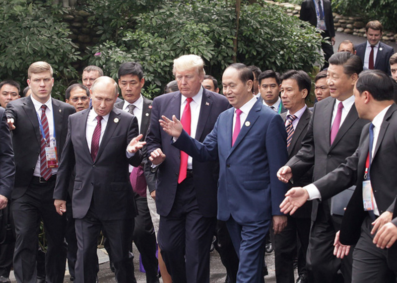 Chủ tịch nước Trần Đại Quang cùng các nhà lãnh đạo Nga, Mỹ, Trung Quốc tại Tuần lễ Cấp cao APEC ở Đà Nẵng.