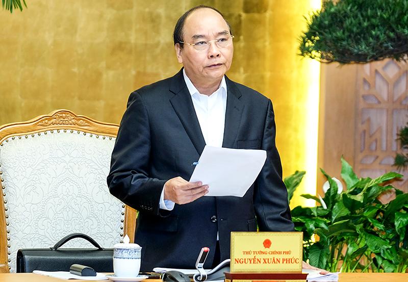Thủ tướng Nguyễn Xuân Phúc phát biểu khai mạc phiên họp Chính phủ tháng 2. Ảnh: VGP/Quang Hiếu