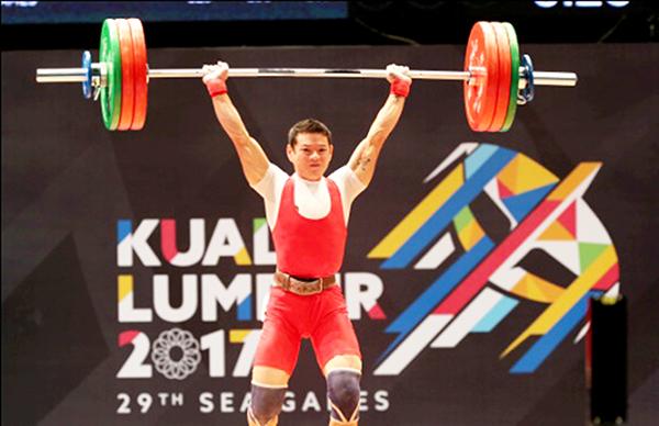 Thạch Kim Tuấn thi đấu tại SEA Games 29. Ảnh: QUANG LIÊM