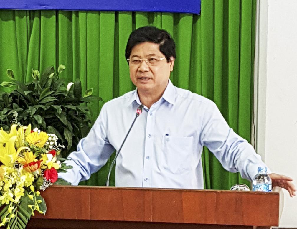Thứ trưởng Lê Quốc Doanh phát biểu tại hội nghị. ảnh: ANH KHOA
