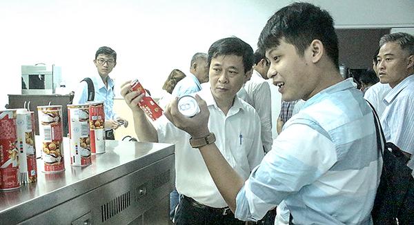 Sản phẩm gạo là sản phẩm đang được ươm tạo tại KVIP. Ảnh: MINH HUYỀN