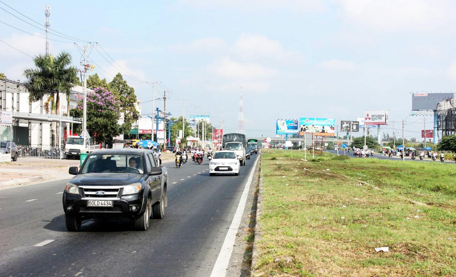 """Quận Cái Răng sẽ triển khai trồng cây xanh trên đất dự trữ đường Quang Trung-Cái Cui tạo mỹ quan và """"điểm nhấn"""" cho khu đô thị Nam Cần Thơ. Ảnh: ANH KHOA"""