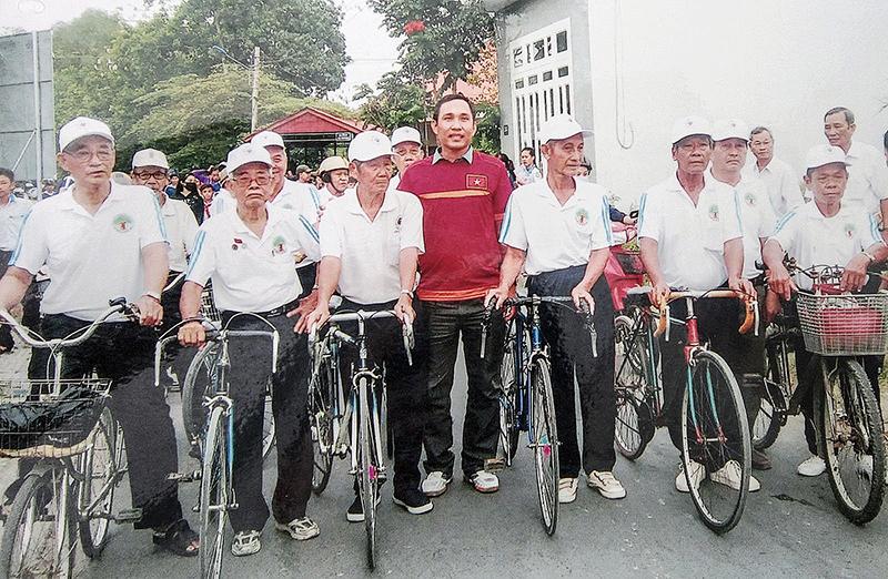 CLB Xe đạp Người Cao tuổi TP Cần Thơ. Ảnh: CLB cung cấp