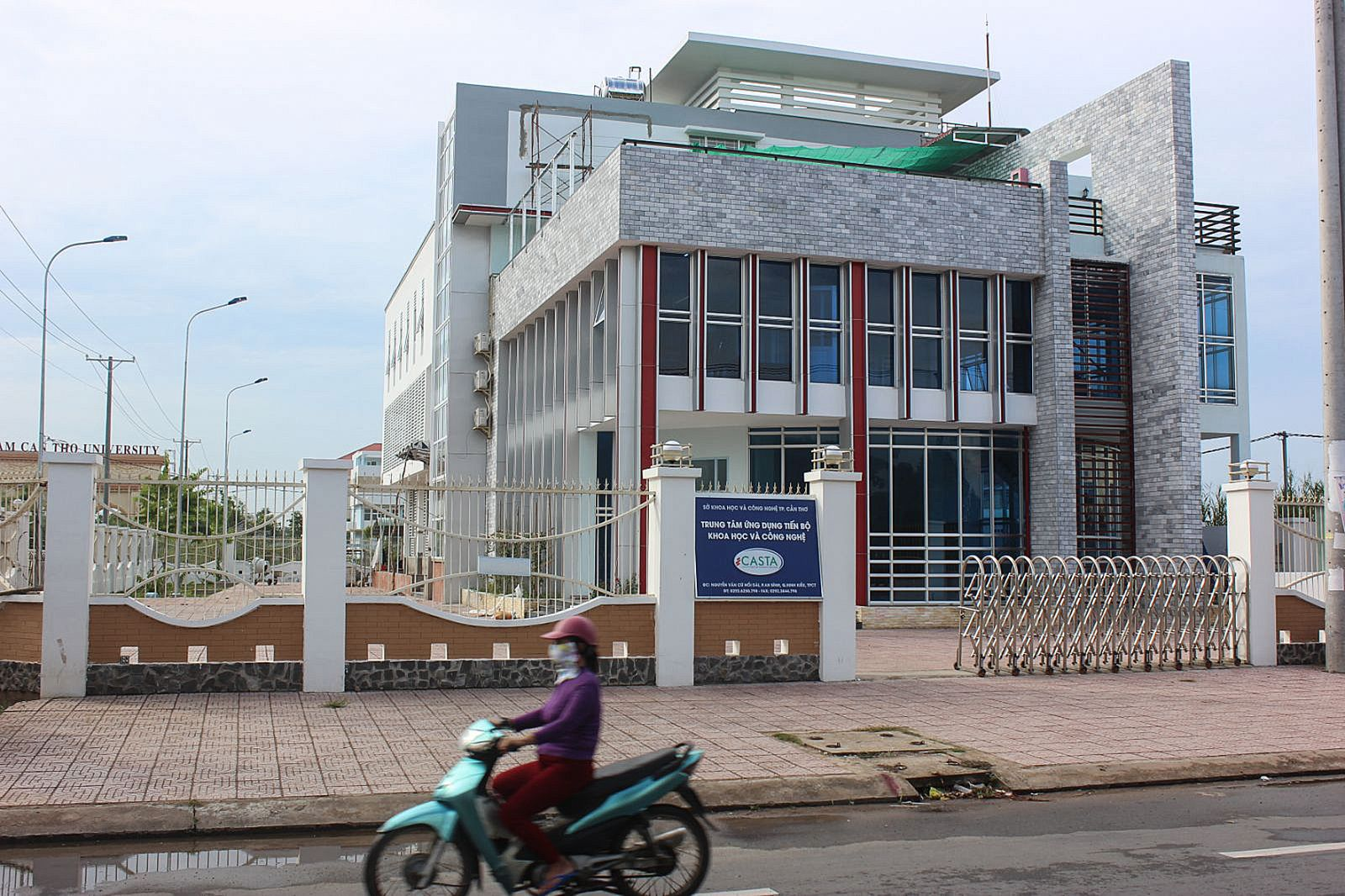 Công trình Trung tâm Ứng dụng tiến bộ khoa học và công nghệ TP Cần Thơ. Ảnh: ANH KHOA