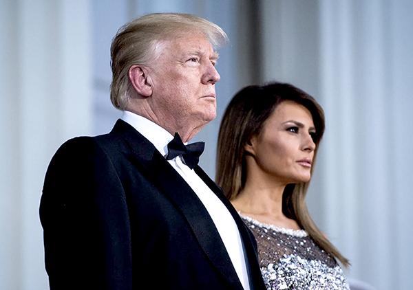 Tổng thống Donald Trump và vợ - Melania Trump.