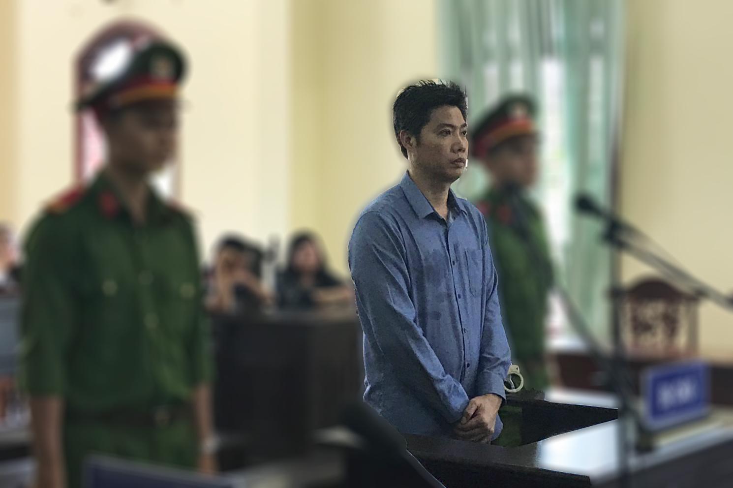 Nguyễn Thống Nhất bị tuyên án 10 năm tù tội lừa đảo. Ảnh: KIỀU CHINH