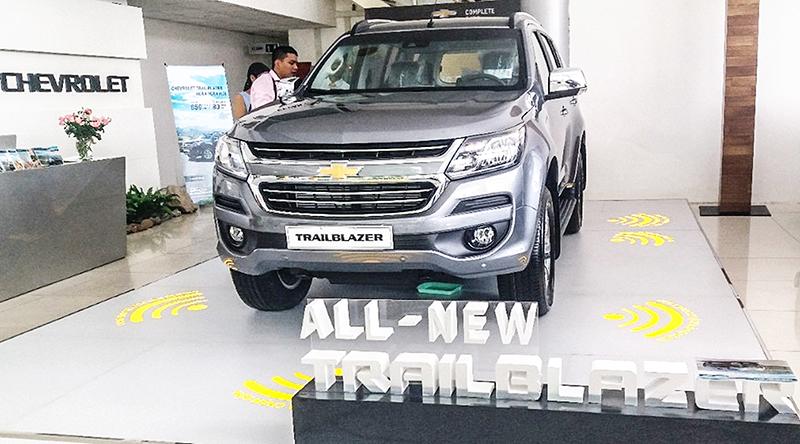 Mẫu xe Chevrolet Trailblazer được trưng bày tại Đại lý Chevrolet Cần Thơ. Ảnh: MINH HUYỀN