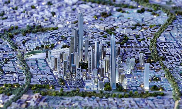 Mô hình thủ đô hành chính mới của Ai Cập. Ảnh: Guardian