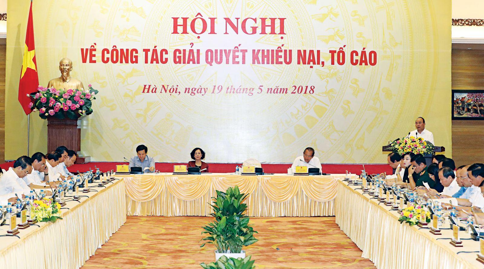 Thủ tướng Nguyễn Xuân Phúc phát biểu tại Hội nghị. Ảnh: Thống Nhất - TTXVN