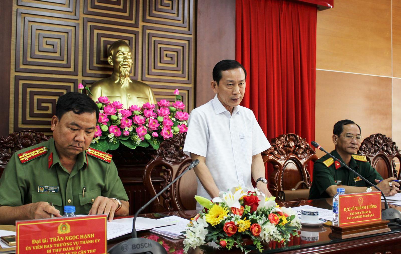 Chủ tịch UBND TP Cần Thơ Võ Thành Thống phát biểu chỉ đạo Hội nghị. Ảnh: KIỀU CHINH
