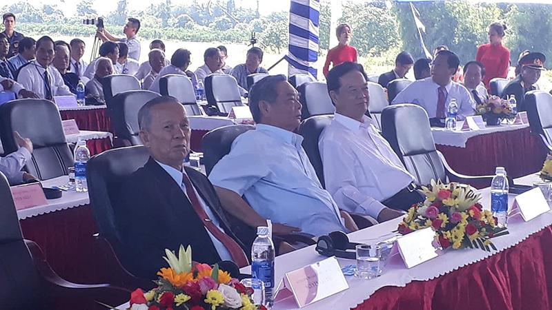 Nguyên Thủ tướng Nguyễn Tấn Dũng, ông Lê Hồng Anh – nguyên Thường trực Ban Bí thư, ông Trương Vĩnh Trọng – nguyên Phó Thủ tướng Chính phủ tham dự lễ khánh thành.