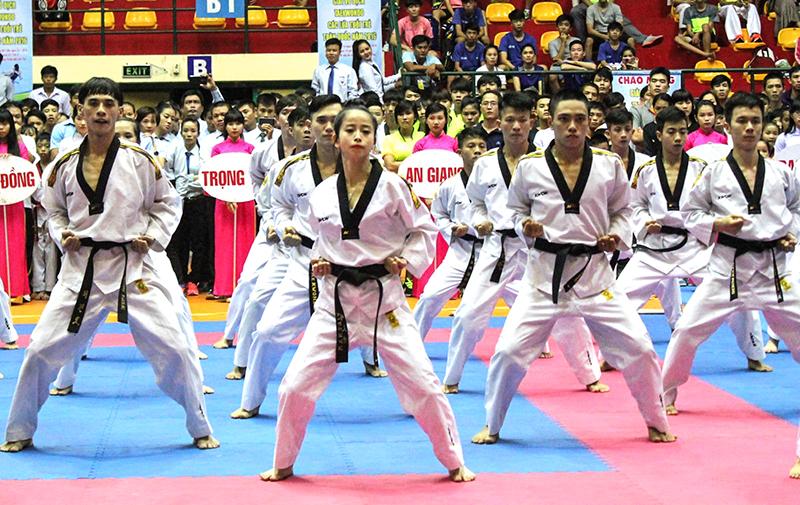 Đội tuyển quyền taekwondo Việt Nam được kỳ vọng sẽ tạo dấu ấn tại ASIAD 2018. Ảnh: AN CHI