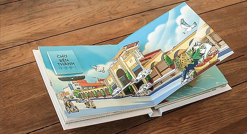 """""""Sài Gòn phố"""" - tác phẩm artbook gồm những địa điểm nổi tiếng của Sài Gòn."""