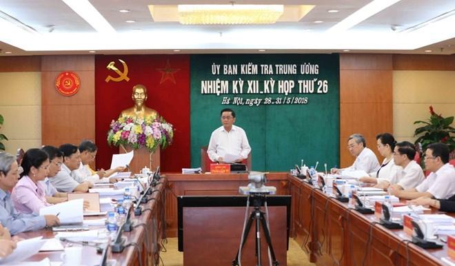 Đồng chí Trần Cẩm Tú, Bí thư Trung ương Đảng, Chủ nhiệm Ủy ban Kiểm tra Trung ương chủ trì kỳ họp. Ảnh: PHƯƠNG HOA/TTXVN