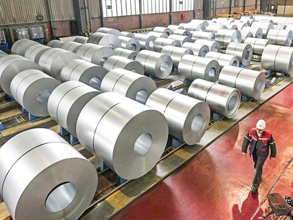 Một nhà máy sản xuất thép tại Đức. Ảnh: AP