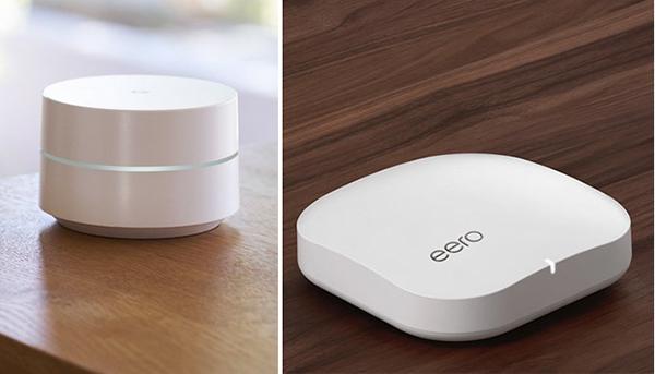 Các hệ thống Google Wifi và eero Pro WiFi.
