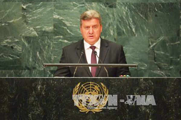 Tổng thống Macedonia Gjorge Ivanov. Ảnh: AFP/TTXVN
