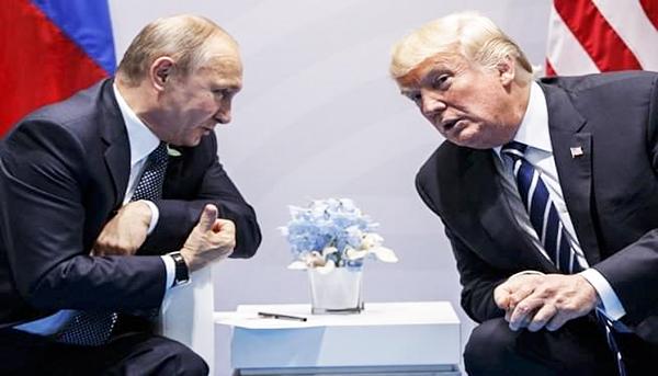 Tổng thống Nga Vladimir Putin và Tổng thống Mỹ Donald Trump. Nguồn: wmal.com