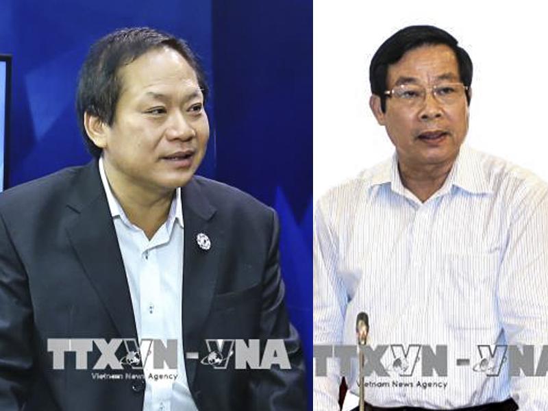 Đồng chí Trương Minh Tuấn và đồng chí Nguyễn Bắc Son. Ảnh: TTXVN