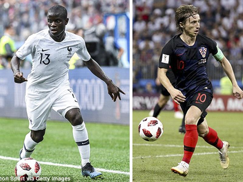 Kante (trái) hay Modric sẽ giành chiến thắng? Ảnh: Getty