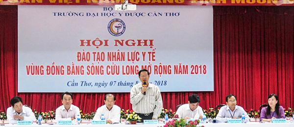 Ông Lê Văn Tâm, Phó Chủ tịch Thường trực UBND TP Cần Thơ phát biểu tại cuộc họp. Ảnh: B.NG