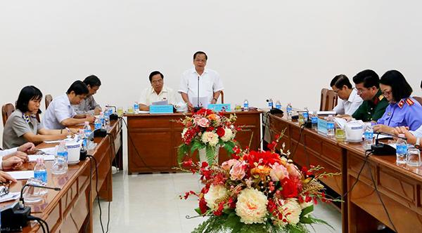 Đồng chí Trần Quốc Trung phát biểu tại Hội nghị.