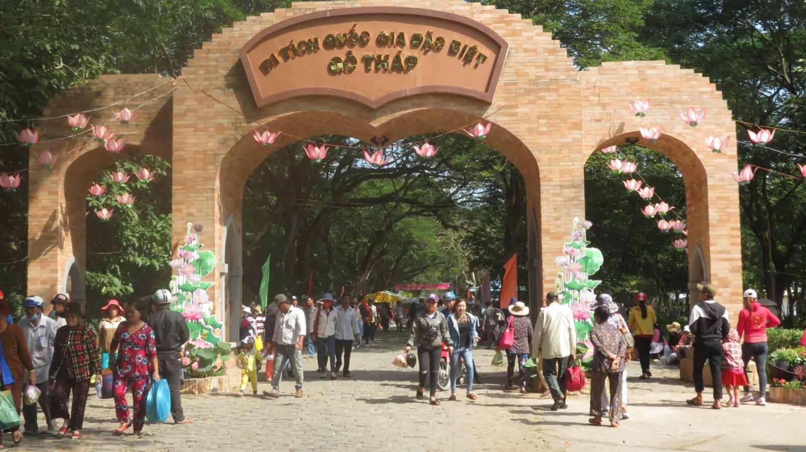 Di tích Gò Tháp - điểm thu hút đông du khách của tỉnh Đồng Tháp.