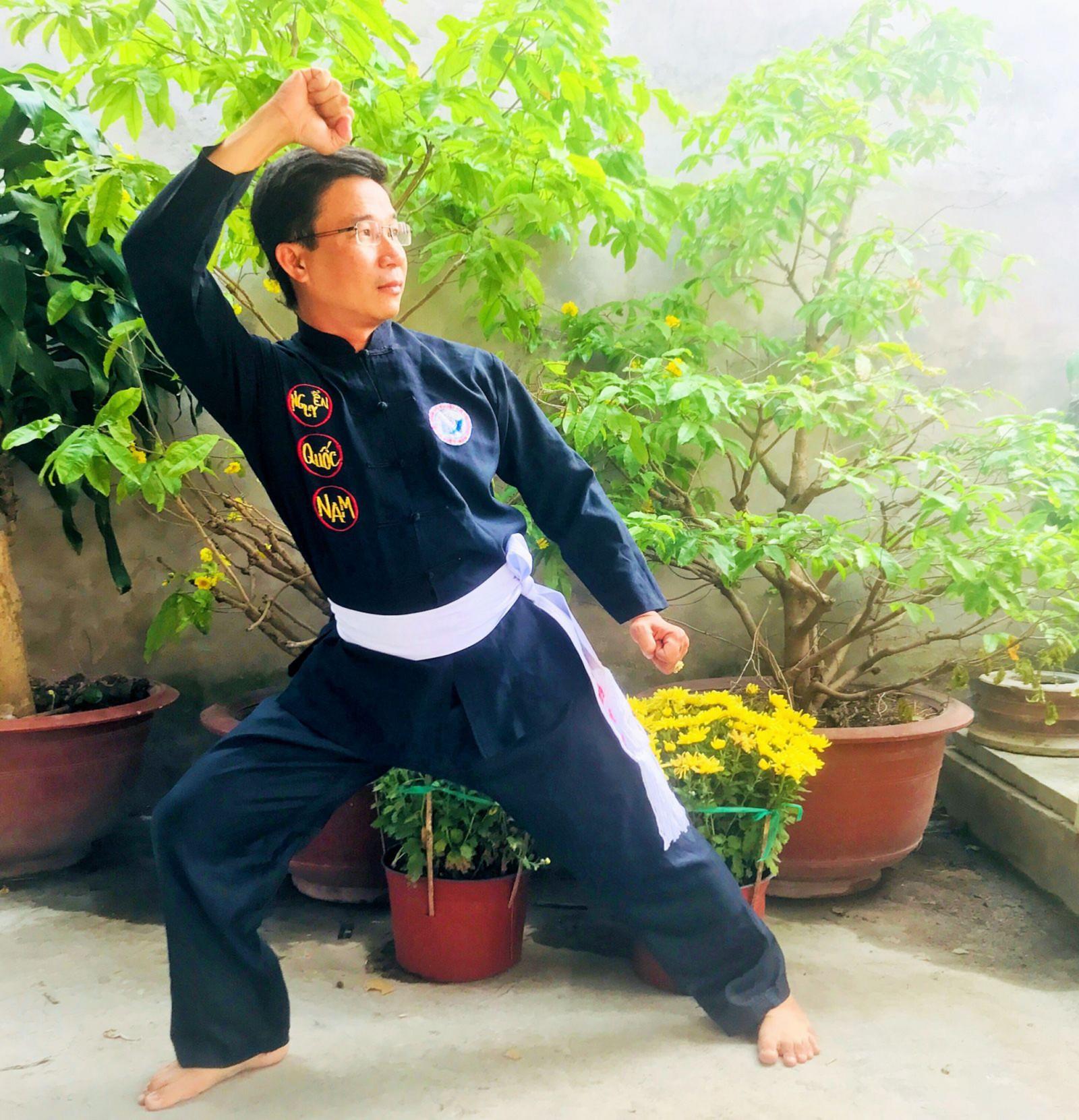Võ sư Nguyễn Quốc Nam. Ảnh: ĐĂNG HUỲNH