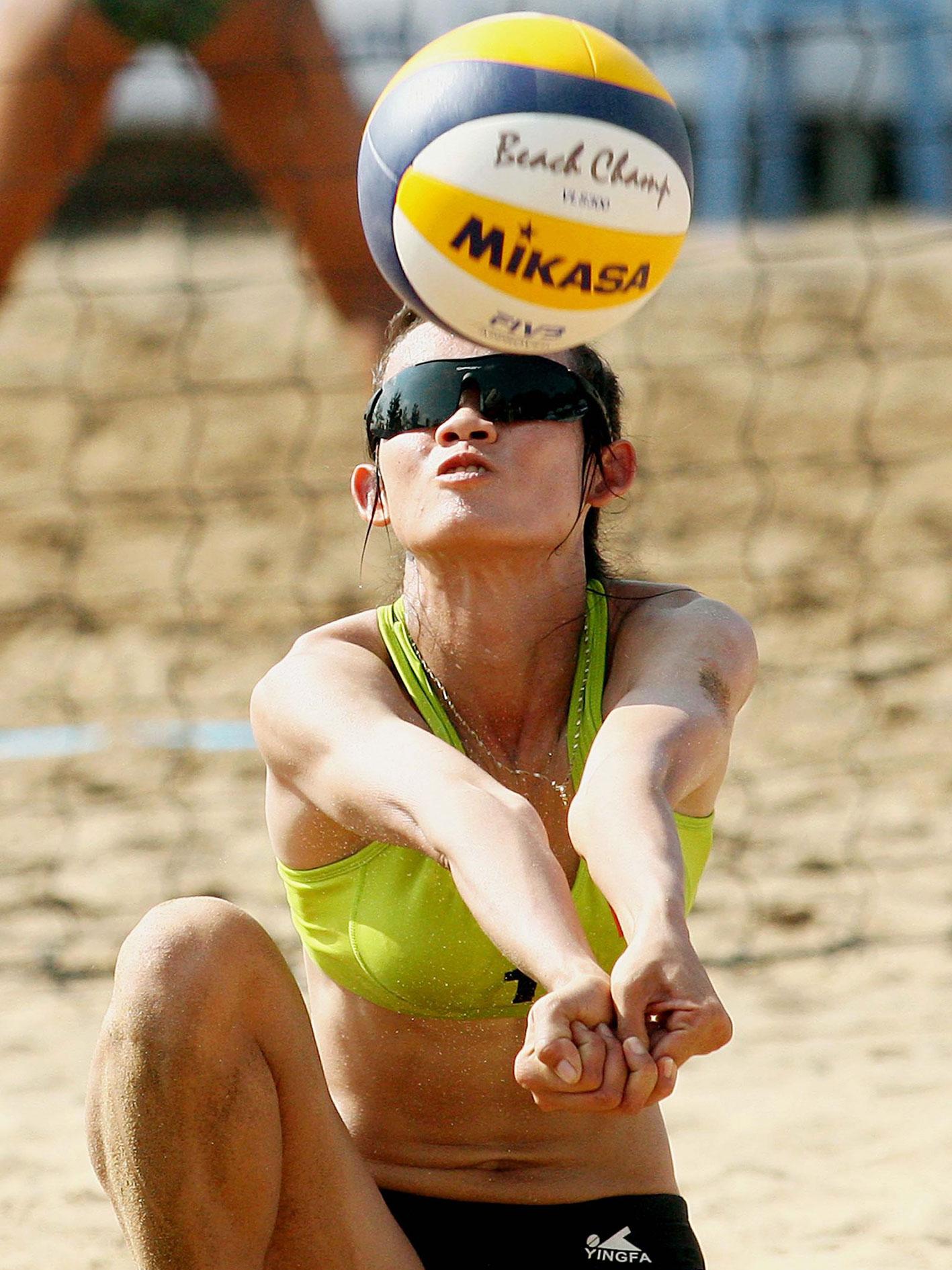 VĐV Nguyễn Thị Diễm Trinh của Bóng chuyền bãi biển Cần Thơ hiện được triệu tập vào đội trẻ quốc gia. Ảnh: AN CHI