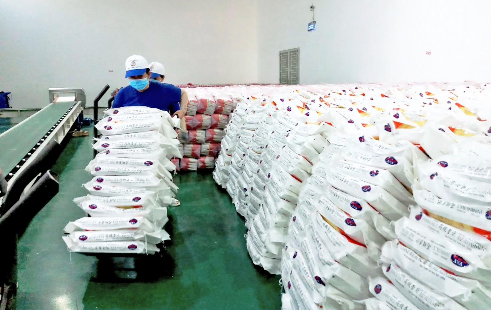 Thực hành trách nhiệm xã hội trong hoạt động sản xuất kinh doanh sẽ giúp DN nâng cao lợi thế cạnh tranh so với các đối thủ. Trong ảnh: Quy trình sản xuất gạo tại Công ty Trung An, quận Thốt Nốt. Ảnh: MỸ THANH