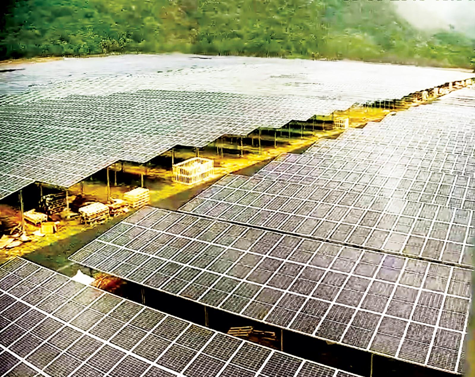 Nhà máy điện mặt trời Sao Mai Solar PV1 hoàn thành 90%. Ảnh: HỒ NHUNG