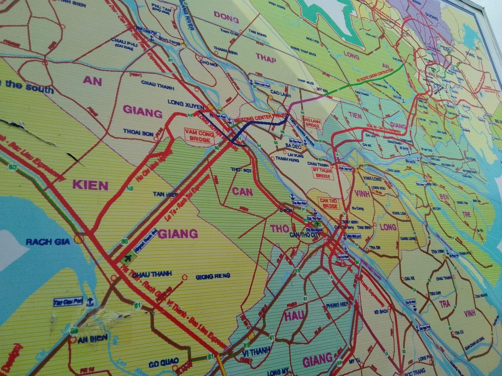Dự án kết nối trung tâm đồng bằng Mekong. Ảnh: T.H