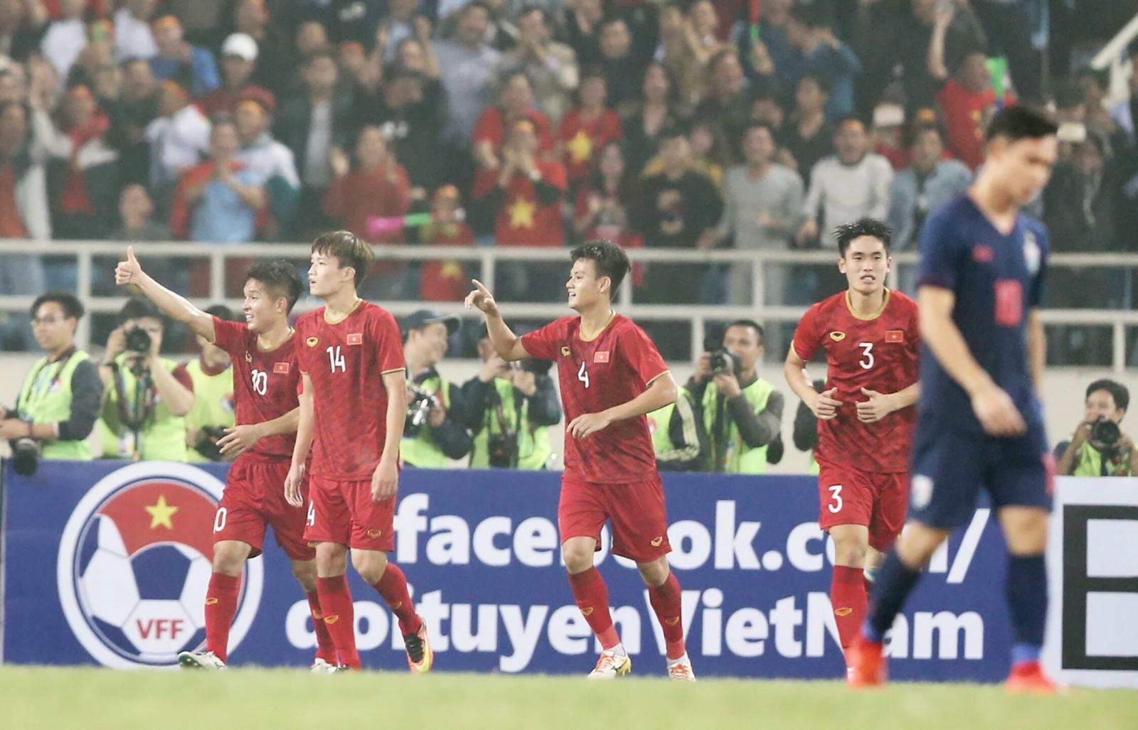 Việt Nam thắng Thái Lan 4-0 ở vòng loại U-23 châu Á. Ảnh: ANH HUY