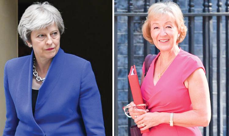 Thủ tướng May (trái) và lãnh đạo Hạ viện Leadsom. Ảnh: Daily Express
