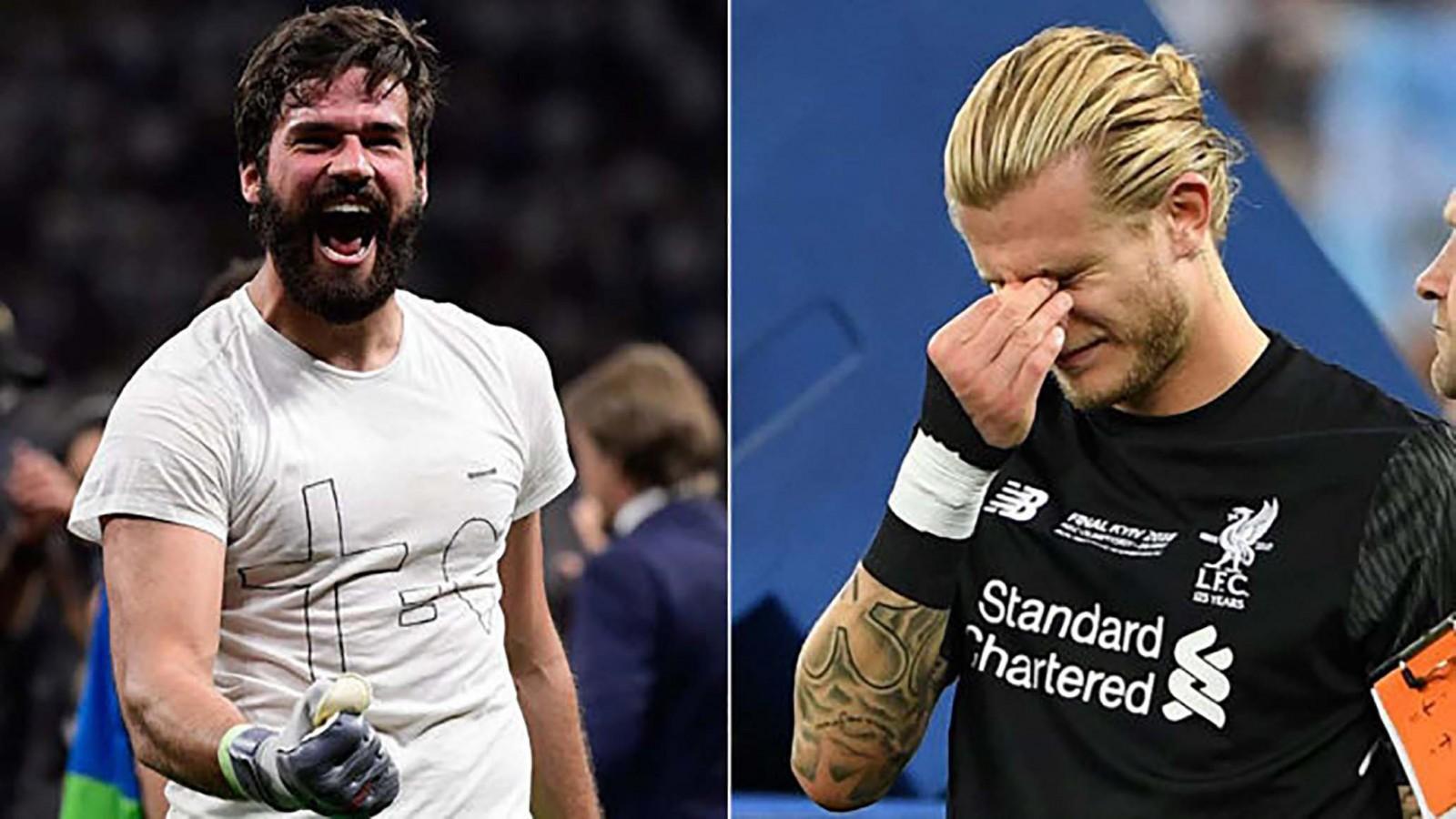 Hình ảnh đối lập của Alisson (trái) và Karius sau hai trận chung kết Champions League của Liverpool. Ảnh: Marca