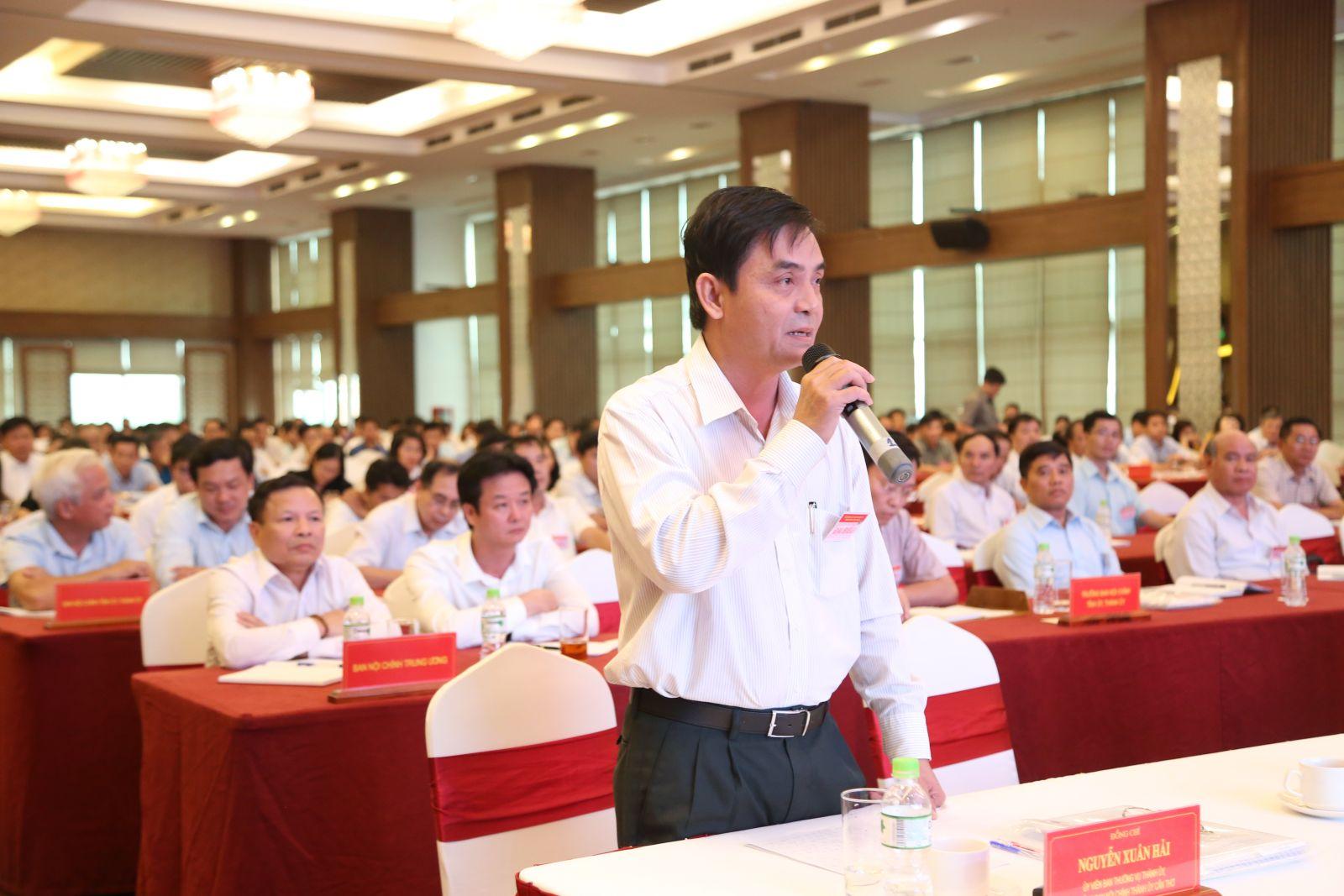 Đại biểu phát biểu tại hội nghị. Ảnh: S.H