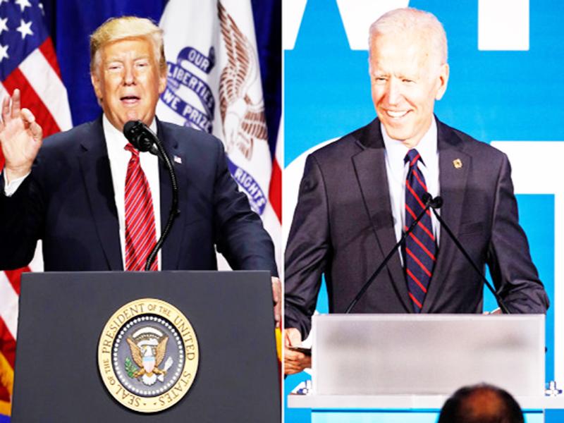 Tổng thống Trump (trái) và ông Biden. Ảnh: Getty Images