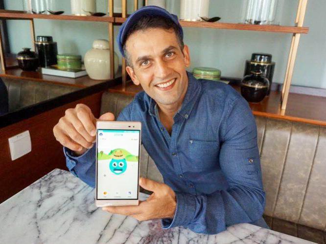 Nhà sáng lập Mohamed Dirani với ứng dụng Plano.