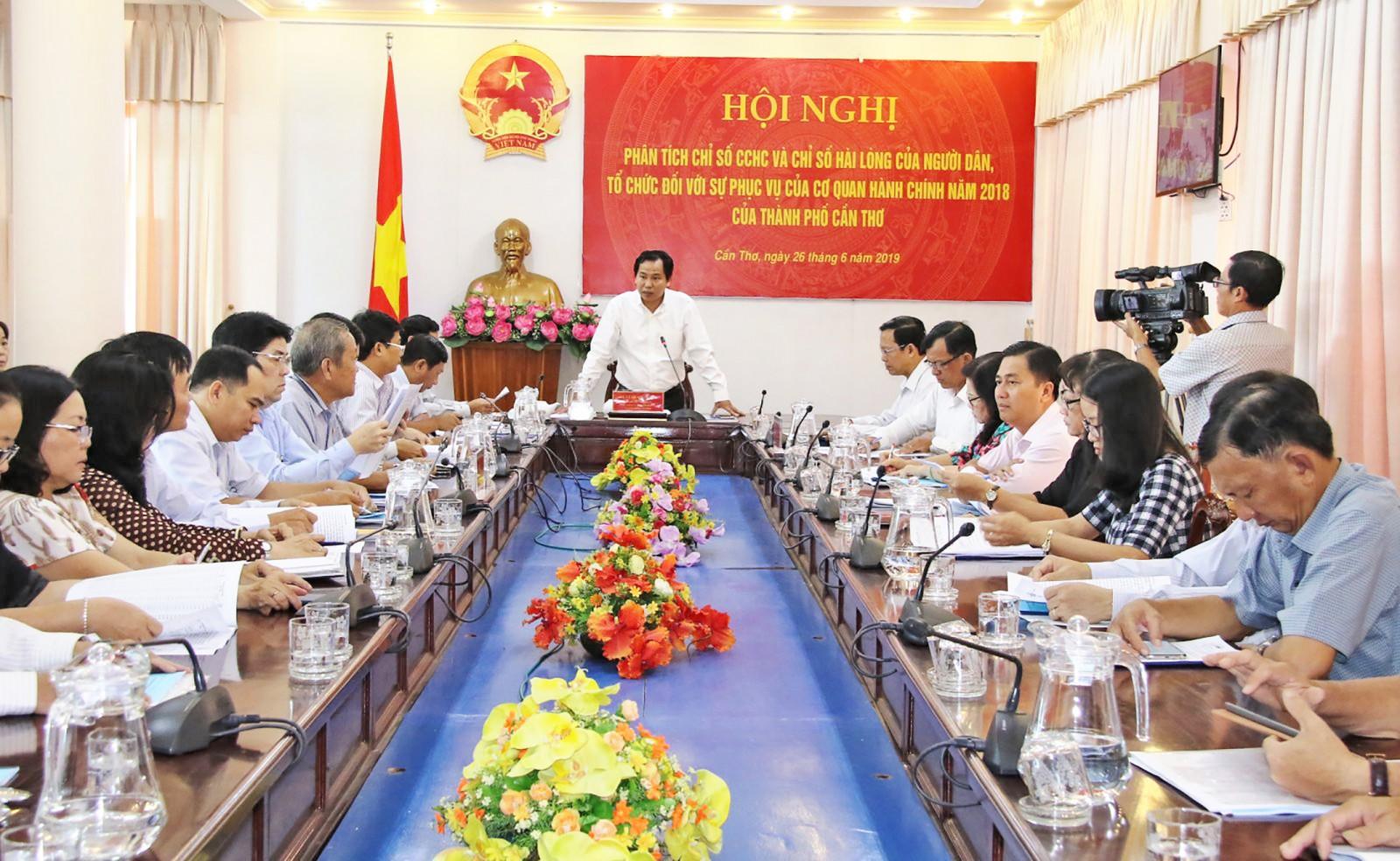 Chủ tịch UBND TP Cần Thơ Lê Quang Mạnh phát biểu tại Hội nghị.