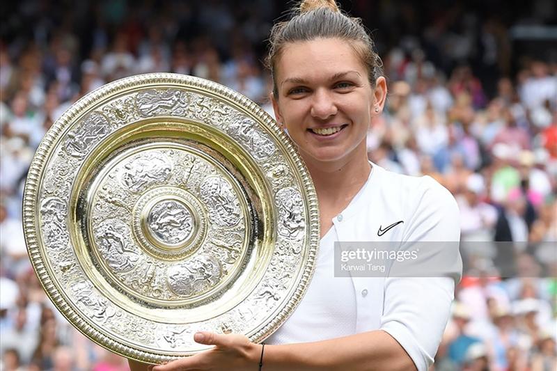 Simona Halep- Nữ hoàng mới của Wimbledon. Ảnh: Getty