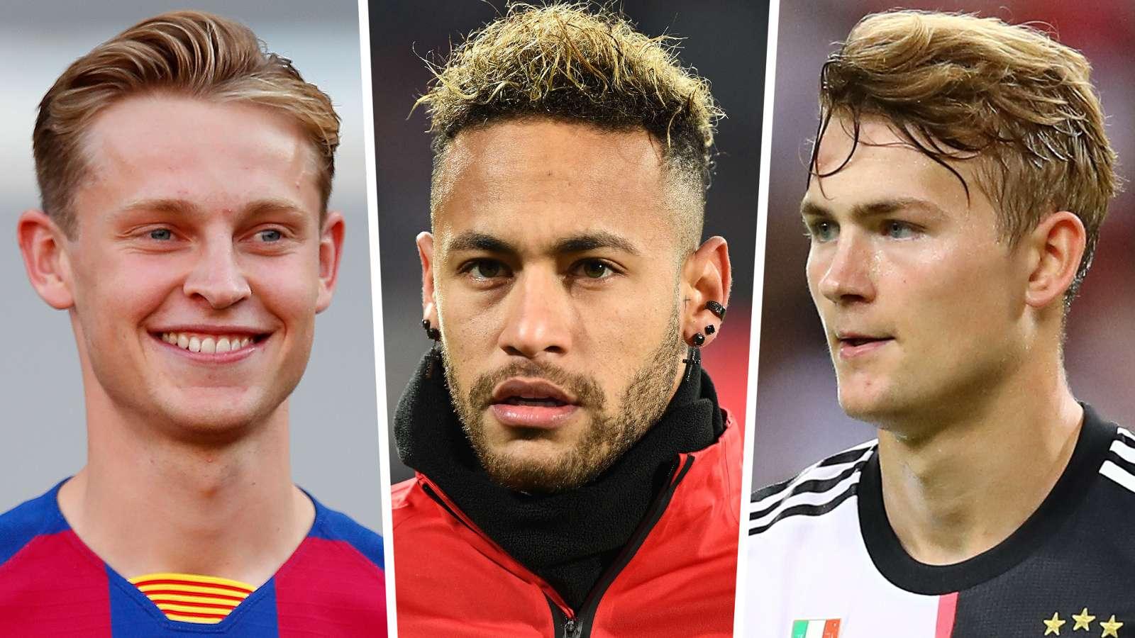 Từ trái sang: Frenkie, Neymar và Matthijs. Ảnh: Goal