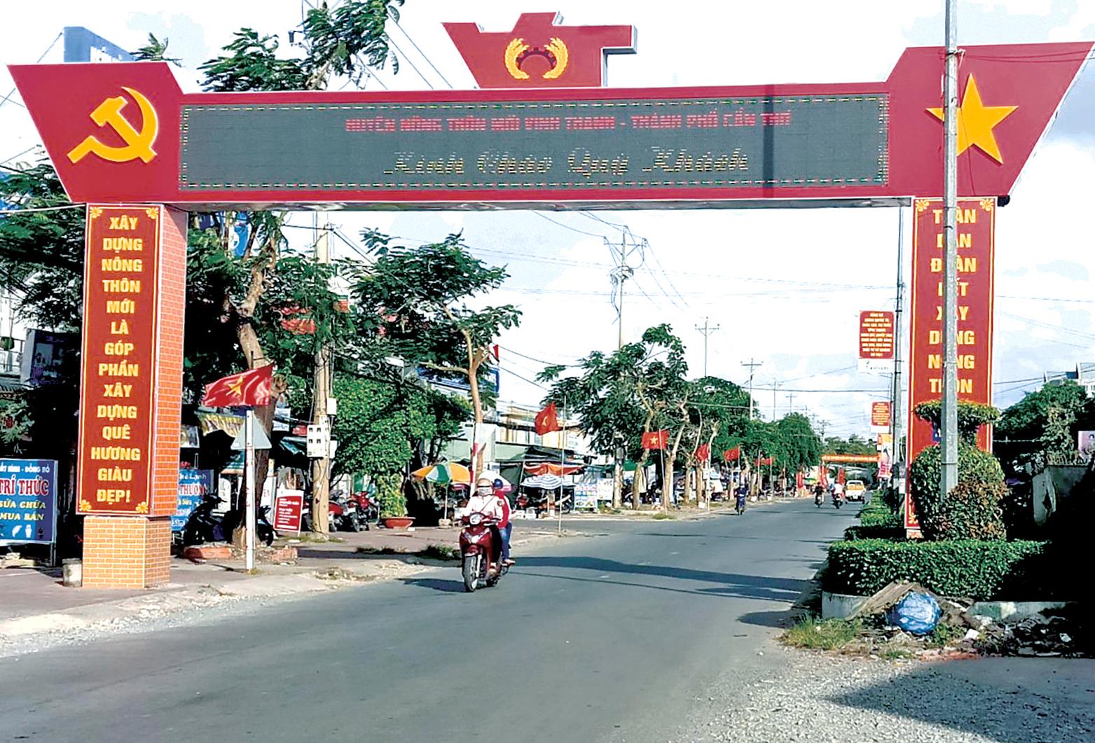 Diện mạo huyện nông thôn mới Vĩnh Thạnh.