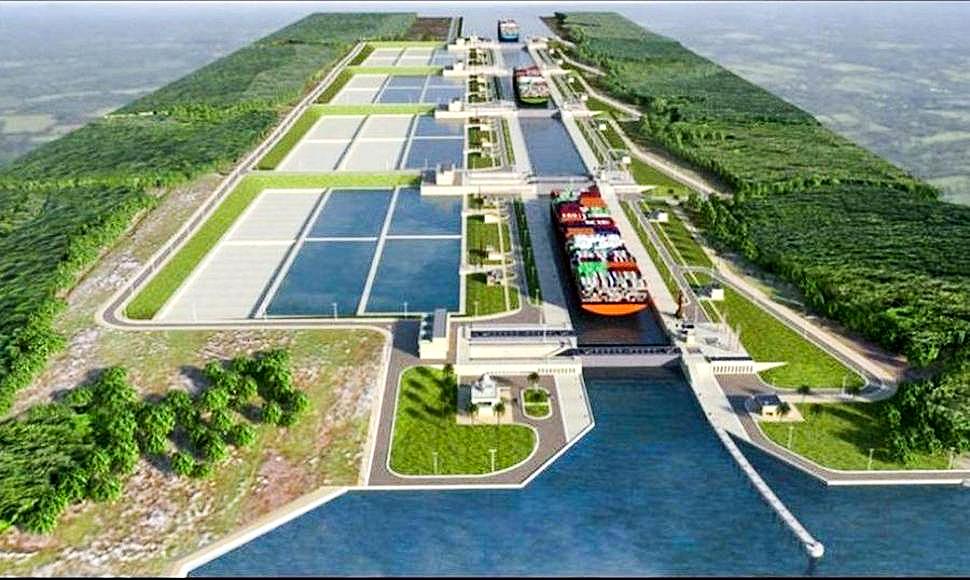 Mô hình kênh đào Nicaragua. Ảnh: CNN