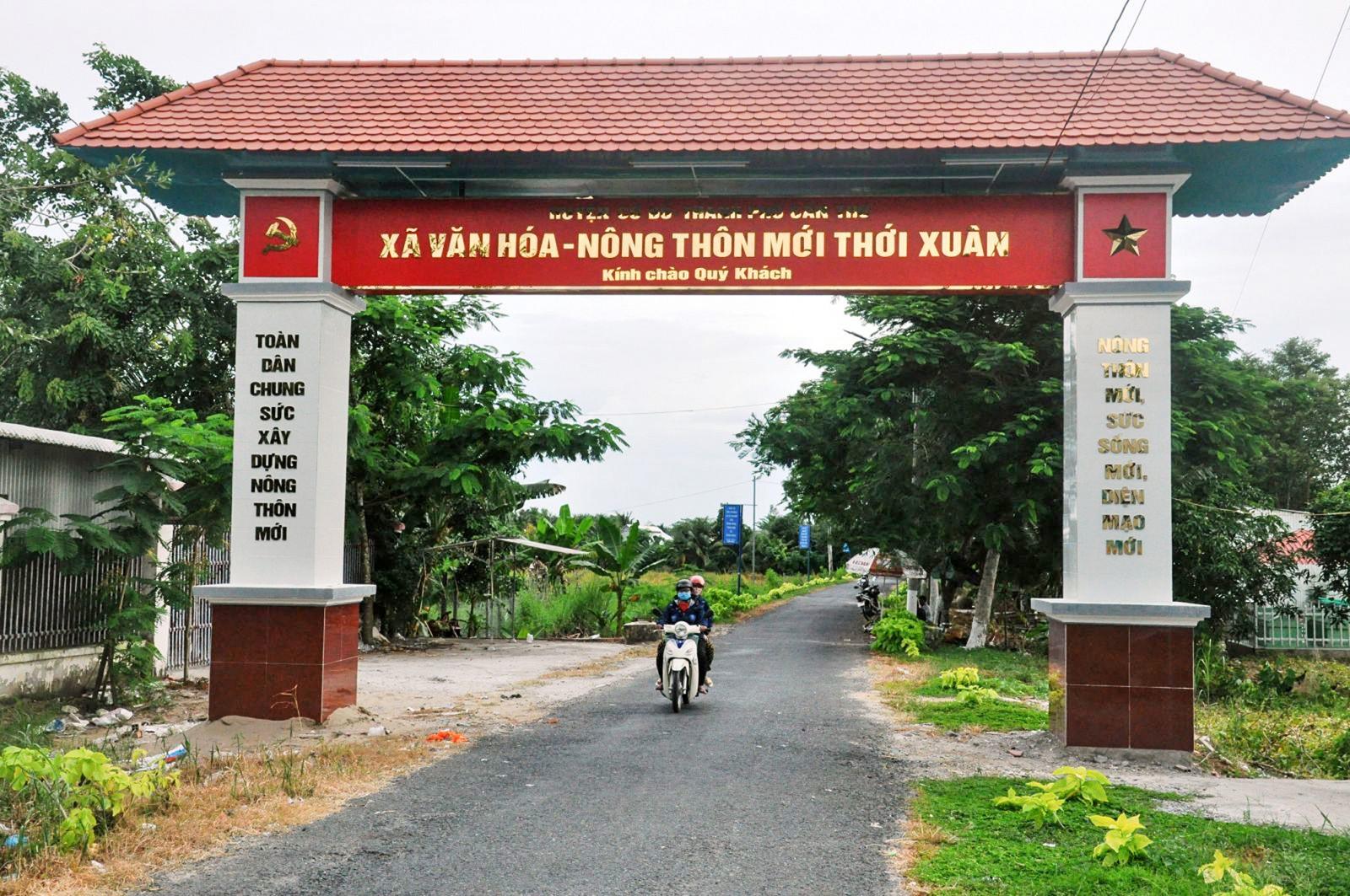 Xã Thới Xuân đã đạt chuẩn xã nông thôn mới.