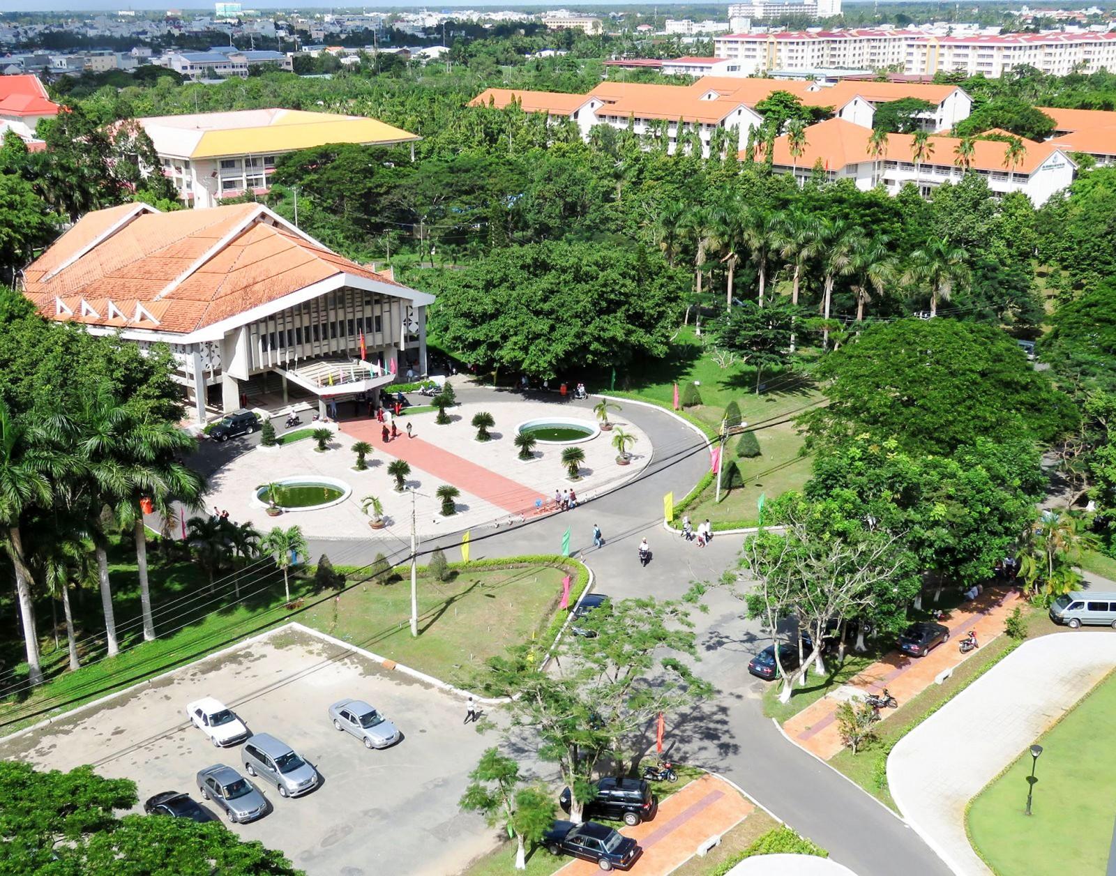 Một góc Trường Đại học Cần Thơ.